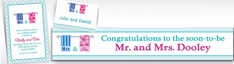 Custom His and Hers Towels Bridal Shower Invitations & Thank You Notes