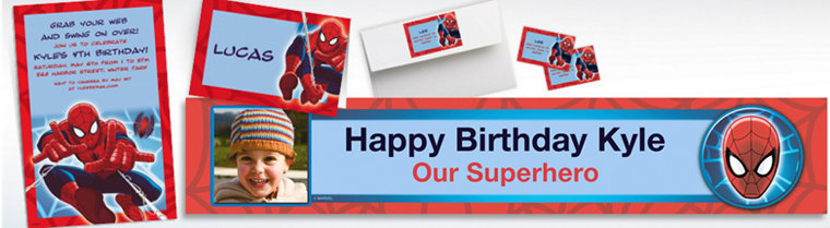 Custom Spider-Man Invitations & Thank You Notes