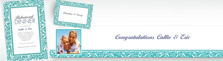 Custom Robin's Egg Blue Wedding Invitations & Thank You Notes