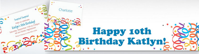 Custom Colorful Birthday Invitations & Thank You Notes