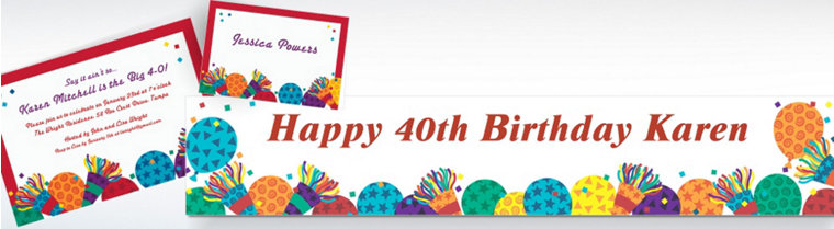 Custom Birthday Horns Invitations & Thank You Notes