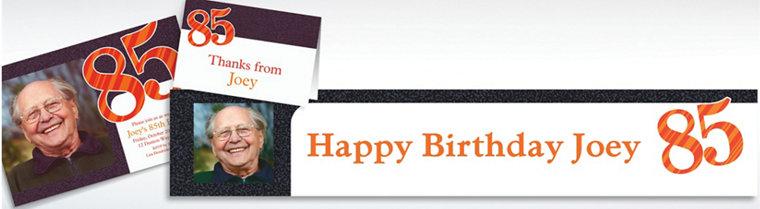 Custom Big Celebration 85 Photo Invitations