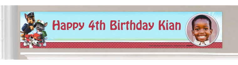 Custom PAW Patrol Birthday Banners