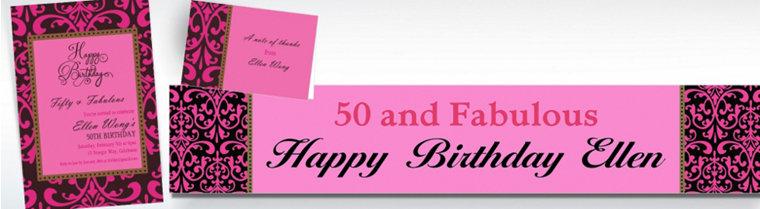 Custom Fabulous Celebration Invitations & Thank You Notes