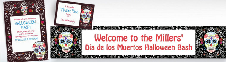 Custom Day of the Dead Invitations & Thank You Notes