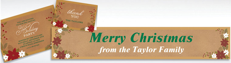 Custom Merry Little Christmas Invitations & Thank You Notes