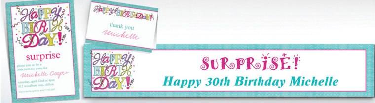 Custom Sweet Party Invitations & Thank You Notes