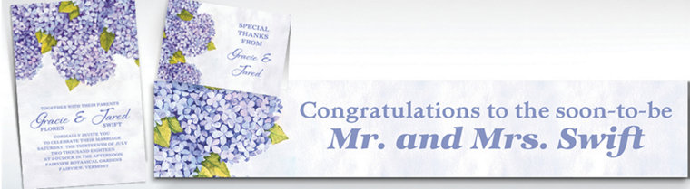 Custom Bundled Hydrangeas Invitations & Thank You Notes