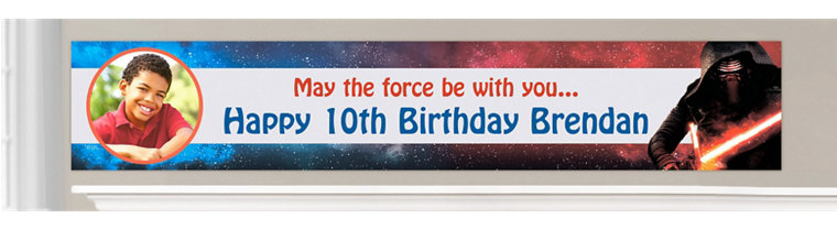 Custom Star Wars: The Force Awakens Birthday Banners