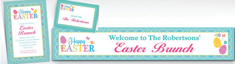 Custom Egg-citing Easter Invitations & Thank You Notes