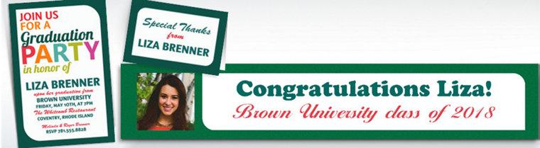 Custom Bright Graduation Invitations & Thank You Notes