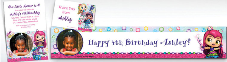 Custom Little Charmers Banners, Invitations & Thank You Notes
