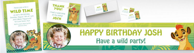Custom Lion Guard Invitations, Thank You Notes & Banners