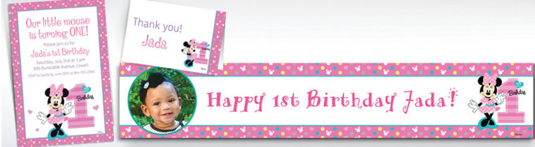 Custom 1st Birthday Invitations Party City – Party City Birthday Invitations