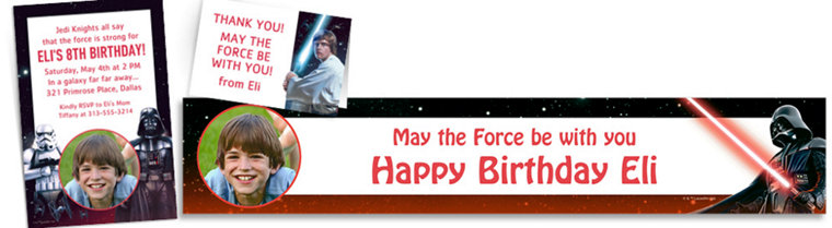Custom Star Wars Invitations, Thank You Notes & Banners