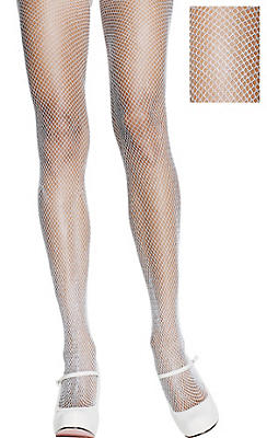 Adult White Fishnet Pantyhose