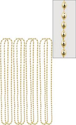 Metallic Gold Bead Necklaces 8ct