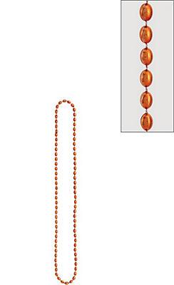 Metallic Orange Bead Necklace