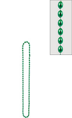 Metallic Green Bead Necklace