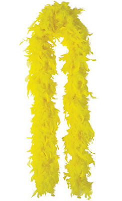 Bright Yellow Feather Boa 72in