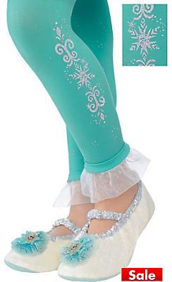 Child Footless Elsa Tights - Frozen