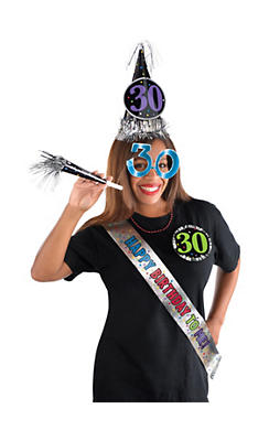 30th Birthday Accessory Kit 6pc