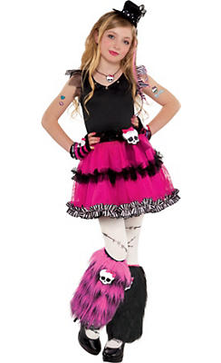 Girls Fuchsia Frankie Stein Costume - Monster High