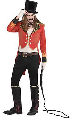 Mens Vintage Red Ringmaster Jacket - Freak Show