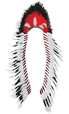 Red & Black Native American Headdress