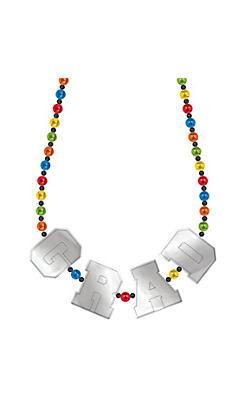 Multicolor Graduation Bead Necklace