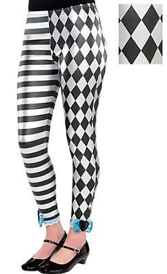 Child Black & White Alice Leggings