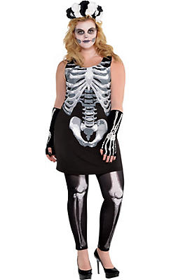 Black & Bone Dress Plus Size - Skeleton