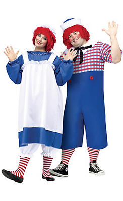 Adult Raggedy Ann & Andy Couples Costumes Plus Size