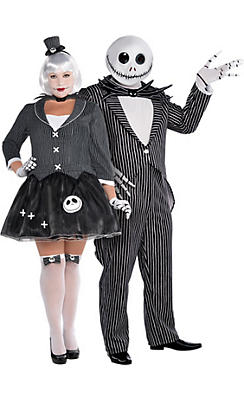 Adult Jack Skellington Couples Costumes Plus Size - The Nightmare Before Christmas