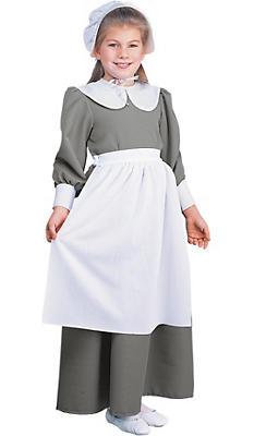 Girls Pilgrim Costume Deluxe