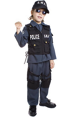 Boys SWAT Police Costume