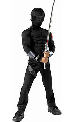 Boys Snake Eyes Ninja Costume Deluxe - G. I. Joe. Retaliation