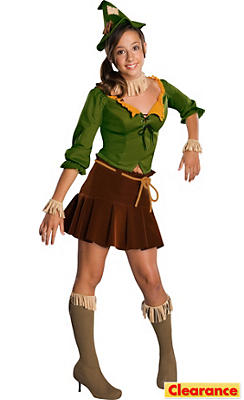 Tween Girls Scarecrow Costume - Wizard of Oz