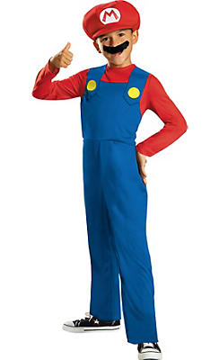 Boys Mario Costume - Super Mario Brothers