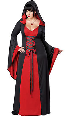 Adult Hooded Temptress Costume Plus Size
