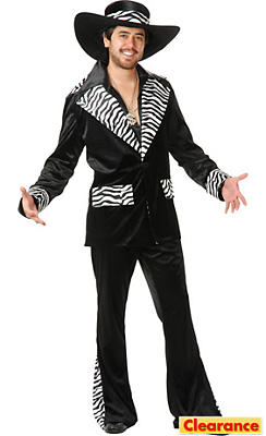 Adult Zebra Mac Daddy Costume