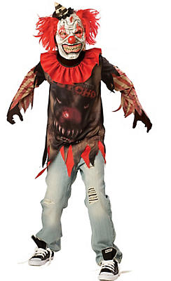 Boys Side Show Psycho Clown Costume