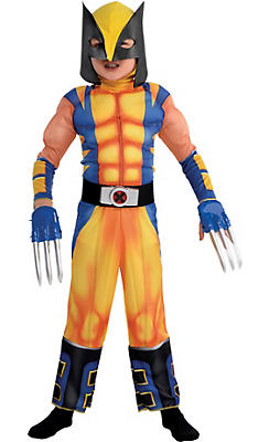 Little Boys Wolverine Muscle Costume