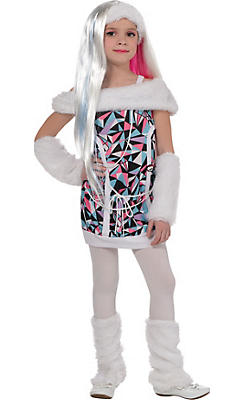 Little Girls Abbey Bominable Costume Deluxe - Monster High