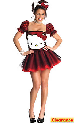 Adult Sequin Hello Kitty Costume