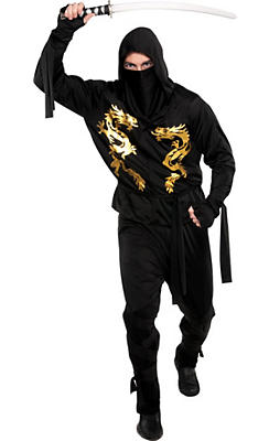 Adult Black Dragon Ninja Costume