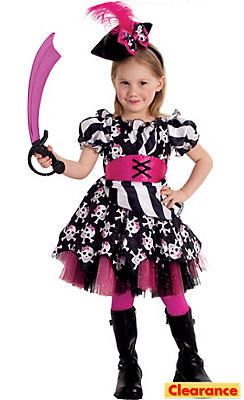 Toddler Girls Abigail The Pirate Costume Deluxe