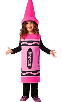 Toddler Girls Pink Crayola Crayon Costume