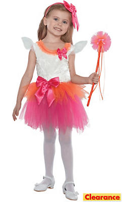 Toddler Girls Fuchsia Fairy Princess Costume