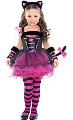 Girls Purrfect Ballerina Cat Costume